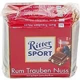 Alfred Ritter: Ritter Sport Chocolate Rum Raisins Nut - 5 x 100 g