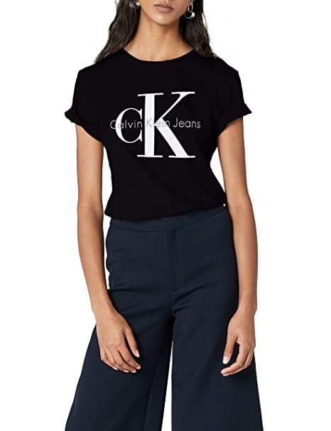 first rate bfd96 322e6 CALVIN KLEIN - Women's T-shirt J2IJ202092 - black, M: Amazon ...