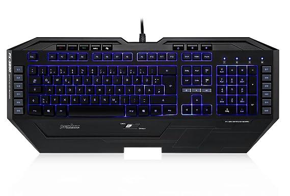 Perixx MX px-3200fr, Gaming-Tastatur Hintergrundbeleuchtung programmierbar – 12 Makros mit 3 Profile Benutzer – 7 Farben retr
