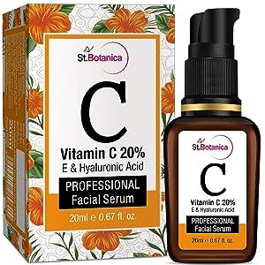StBotanica Vitamin C 20% Vitamin E and Hyaluronic Acid Fairness Brightening Facial Serum - 20 ml