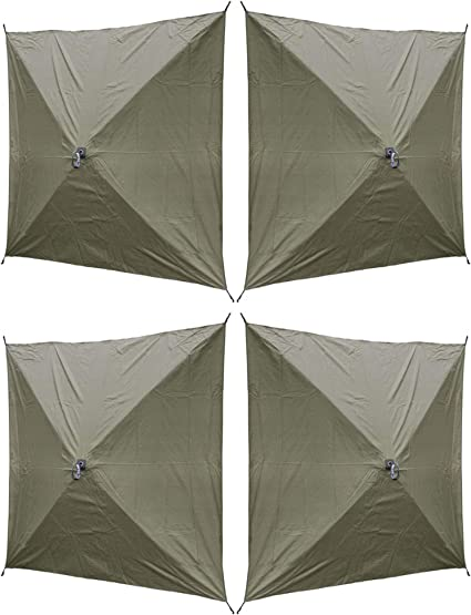 6 Pack Clam Quick Set Screen Hub Green Fabric Wind /& Sun Panels Accessory Only