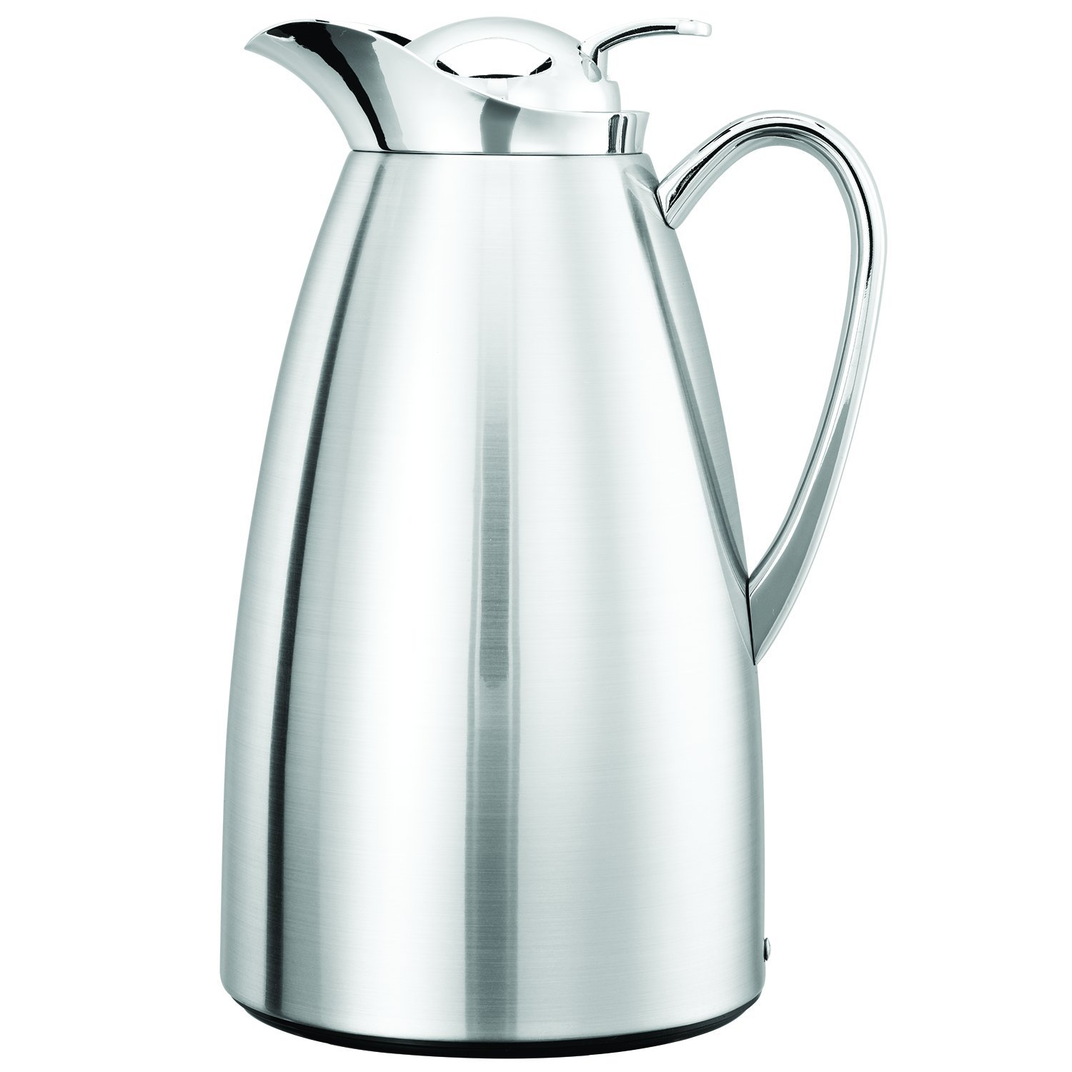 Service Ideas CJZS1CH Carafe, Stainless Steel Lined, All Polished, 1 L
