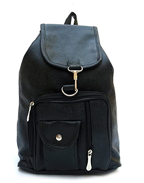 7ecc2f918981 Buy Alice Designer PU Backpack for Girl s(Black) Online at Low Prices in  India - Amazon.in