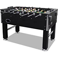 """T&R sports 55"""" Soccer Foosball Table Heavy Duty for Pub Game Tournament for Kids and Adults, Black (US Stock)"""