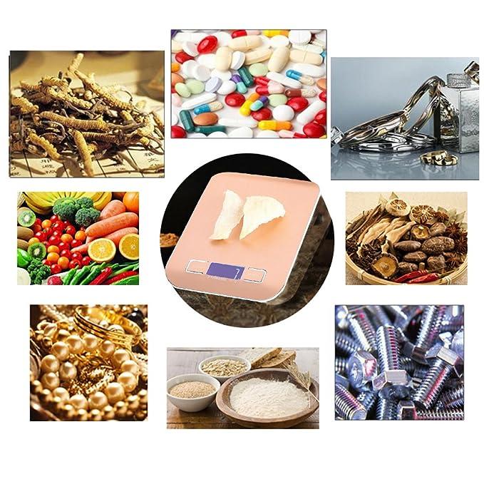 Digital multifunción de cocina y alimentos escala peso compacto Escala, Tara, acero inoxidable, pantalla retroiluminada 2 pilas (incluidas): Amazon.es: ...