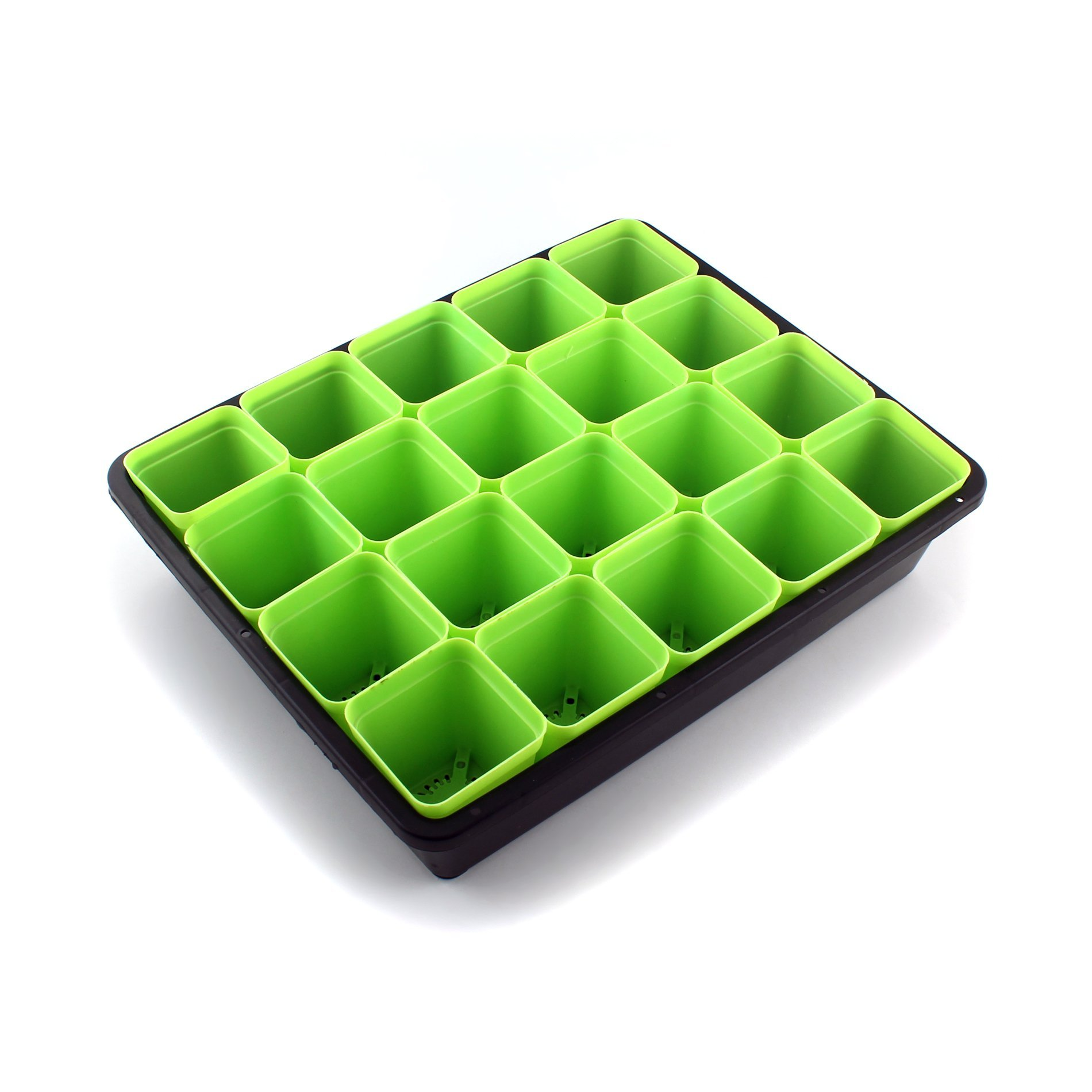 IDS Plant Seedling Starter Trays Planting Trays + Green Square Seed Starter Pot