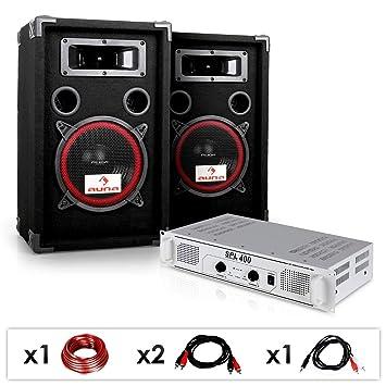 """Equipo DJ PA """"DJ 15"""" Amplificador, Altavoces ..."""
