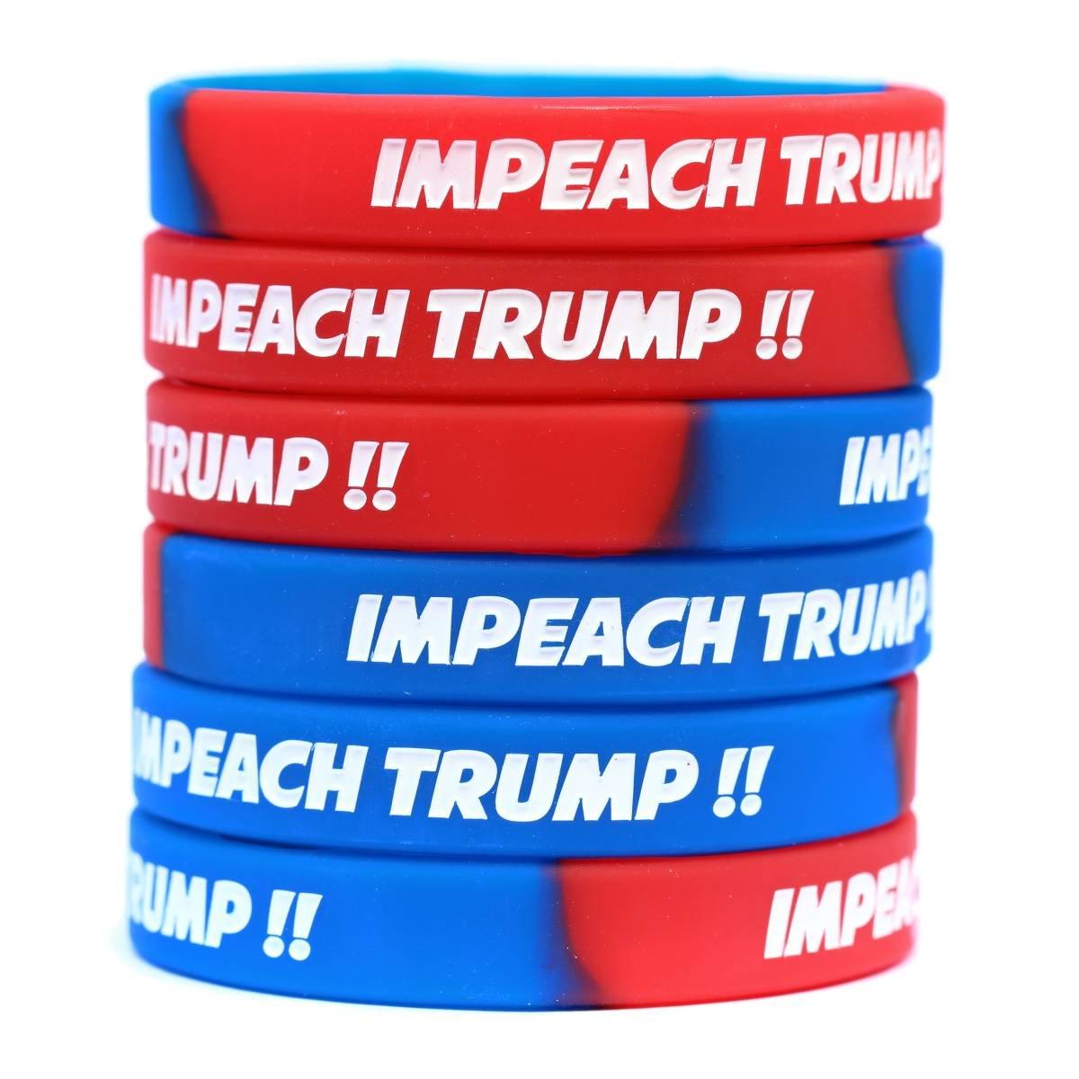 Impeach Trumpリストバンドセット(に1から100バンド) 20大人(20 Adult)  B06XGL5XBS