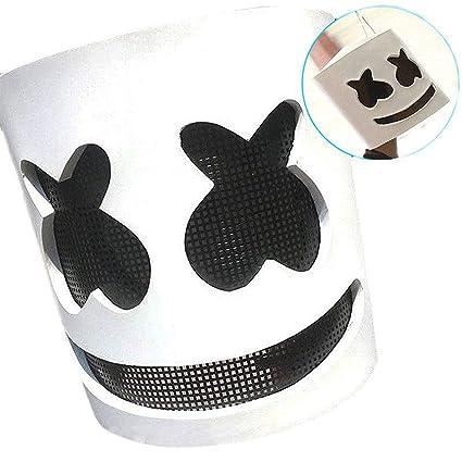 Amazon Com Shutao Marshmello Dj Mask Full Head Helmet Halloween