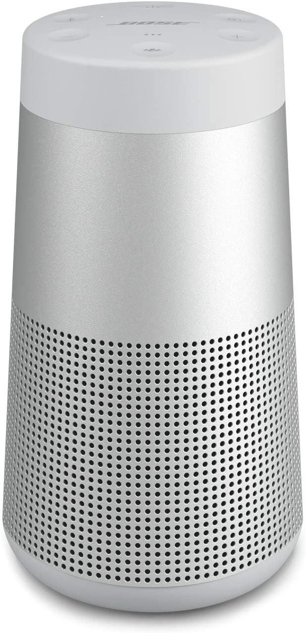 Bose SoundLink Revolve (Series II) Portable Bluetooth Speaker – Wireless Water-Resistant Speaker with 360° Sound, Silver