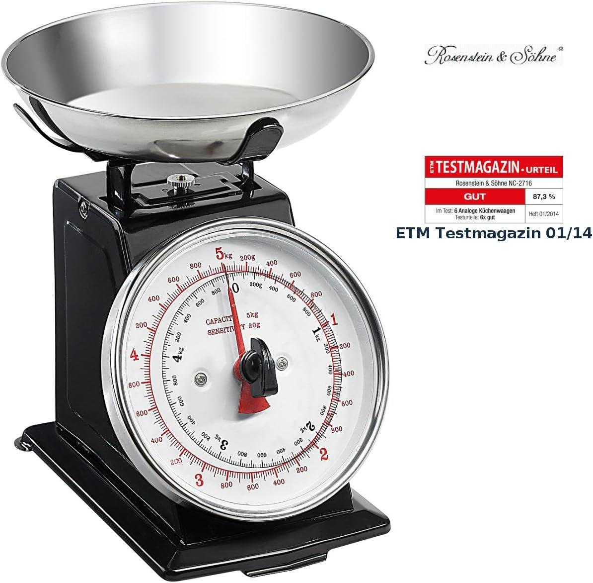 Rosenstein & Söhne - Pesa analógica de cocina (función de tara ...