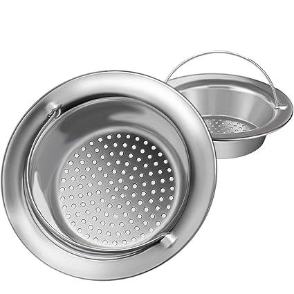 2pcs Upgrade Kitchen Sink Strainer With Handle Premium Stainless