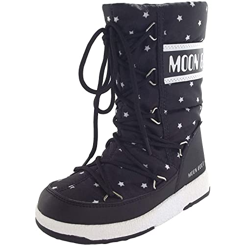 8e8fadd03c Moon Boot by Tecnica Ragazza Stivali JR Q Star WP Boot Black White ...