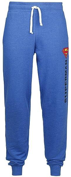 Logo Vintage Pantalones de gimnasia Azul jaspe Superman aJkld