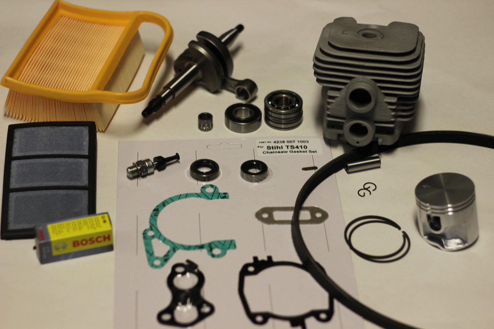 KAM TS420 Cylinder and Piston, Crankshaft Overhaul / Rebuild Kit w/ Gaskets
