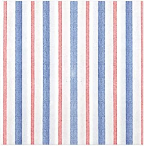 Vietri Papersoft Napkins Americana Stripe Dinner Napkins (Pack of 50) - Decorative and Eco-Friendly Party Supplies