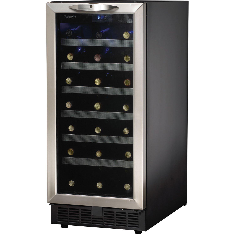 amazoncom danby dwc1534bls 37 cu ft 34bottle silhouette wine cooler appliances