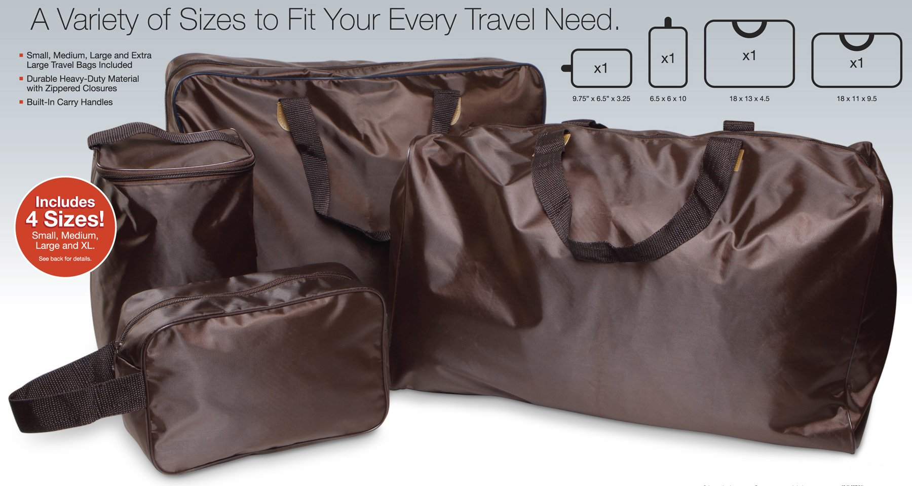Smartworks 4 Piece Travel Bag Set.