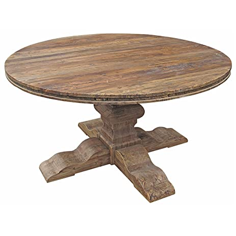 Maris French Country Reclaimed Elm Round Dining Table