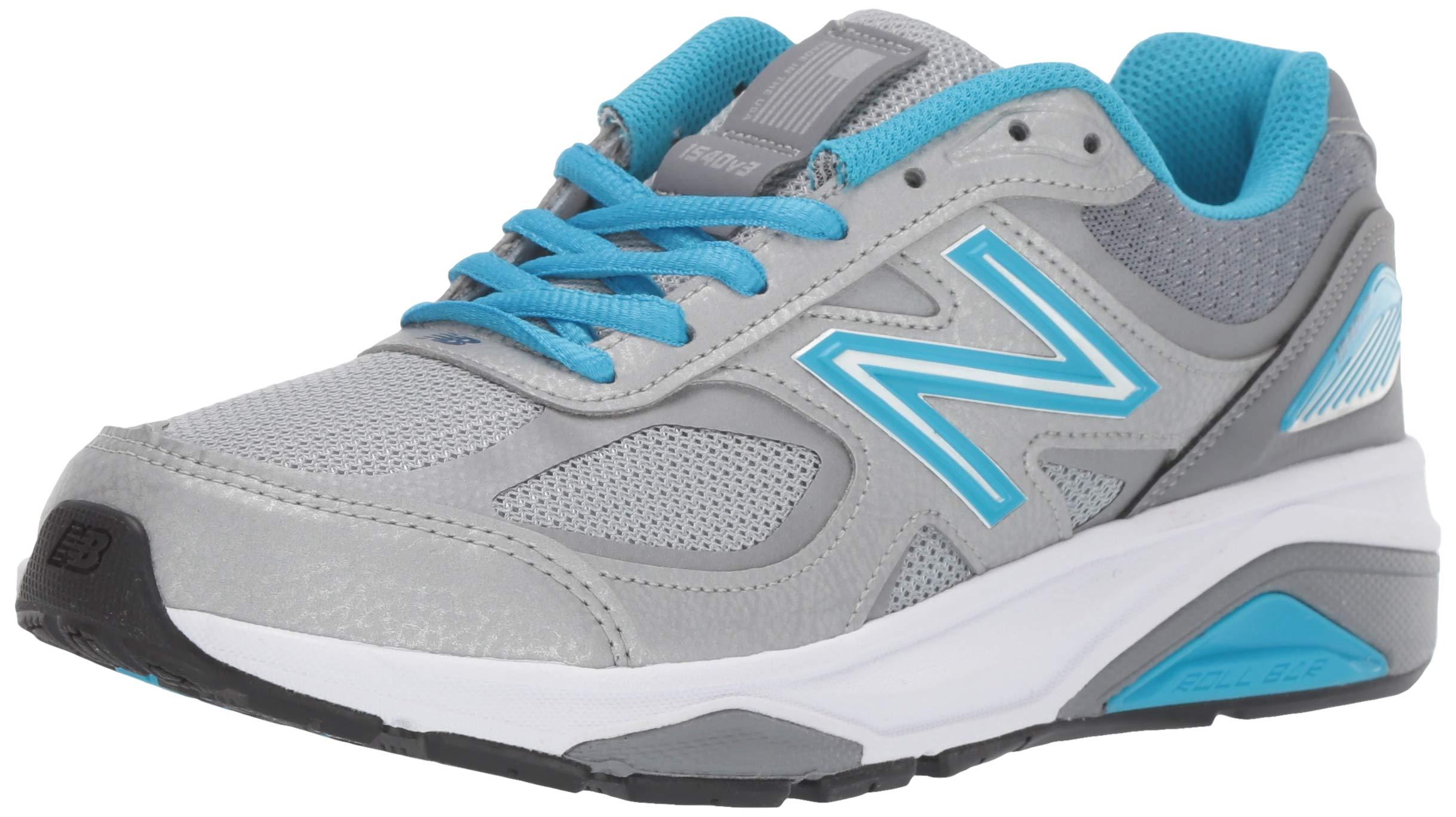 New Balance Women's 1540v3 Running Shoe, Silver/Polaris, 5 M US