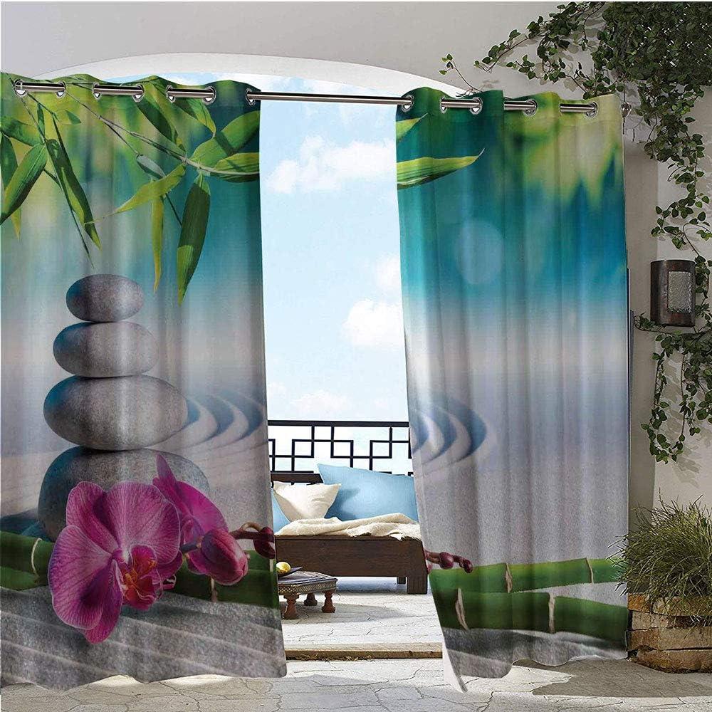 GUUVOR - Cortinas exteriores/exteriores, bambú, reflectantes al ...