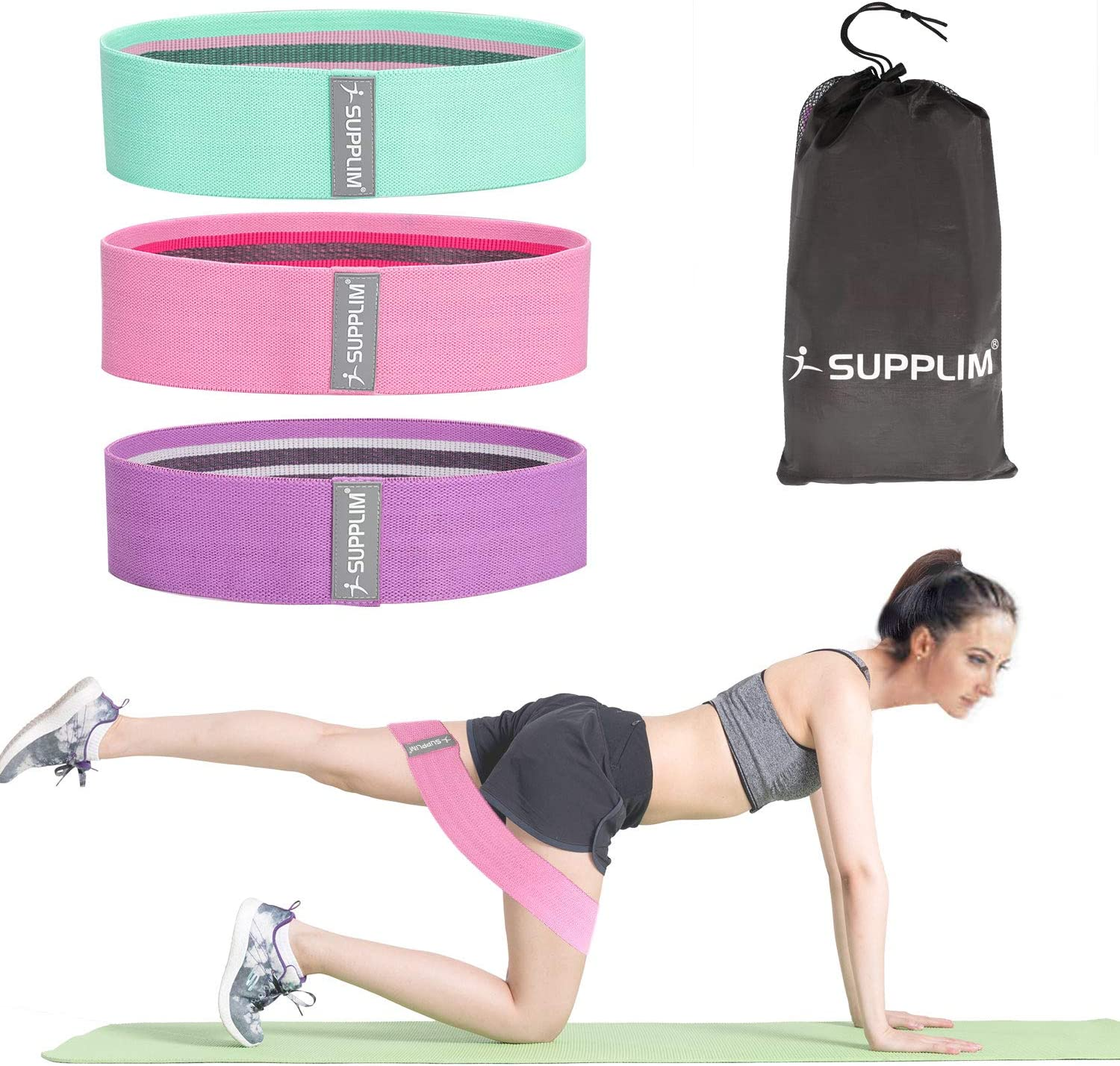 Resistance Bands Set 3 Legs Exercise CrossFit Fitness Booty