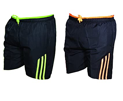 IndiWeaves Mens Polyester Fitness Gym Shorts Sports Shorts Bermuda(Pack of  2 Sports 2d4ff4449e