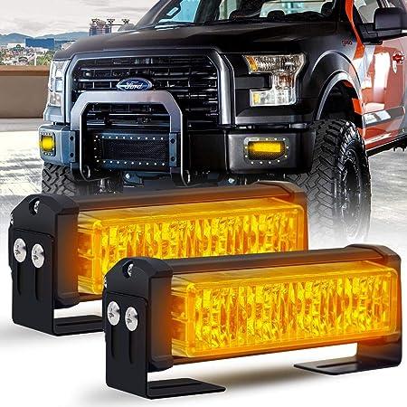 Calevin LED lumière stroboscopique 18 modèles de clignotant Barre de feux de détresse pour avertisseur de danger de police d'urgence pour véhicules de