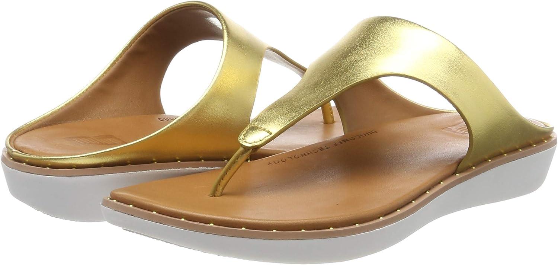 FitFlop Banda II, Sandalias con Punta Abierta para Mujer Dorado Artisan Gold 667