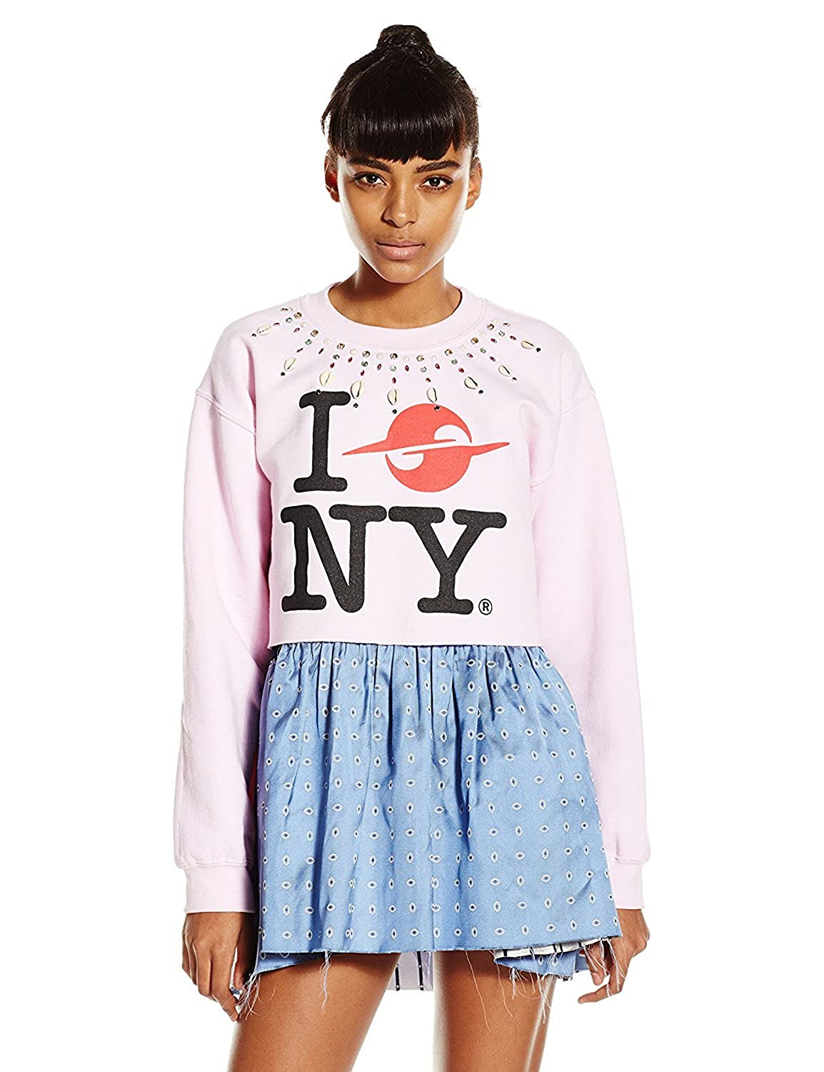 Gypsy Sport Women's Embellished Cropped Sweater Pink Large [並行輸入品] B075CCZV4T