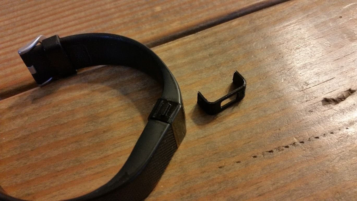 Qty 2 Fitbit Charge HR Button Charging Clasp Replacement Plastic Band Clip