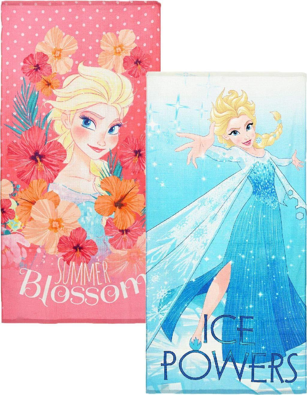 Suncity Toalla de Playa Frozen Disney 70x140cm 84/% algod/ón 14/% Polyester 2/% Visco