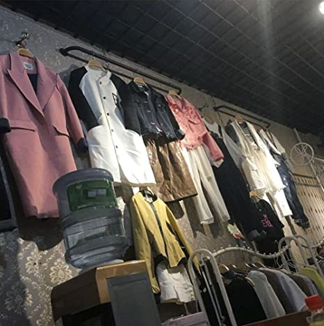Special hangers XZG Creative Coat Rack, Iron Craft Coat Rack Cloakroom Tienda de ropa Dormitorio Sala de estar Cuarto de baño Paraguas de pie 60-120 CM ...