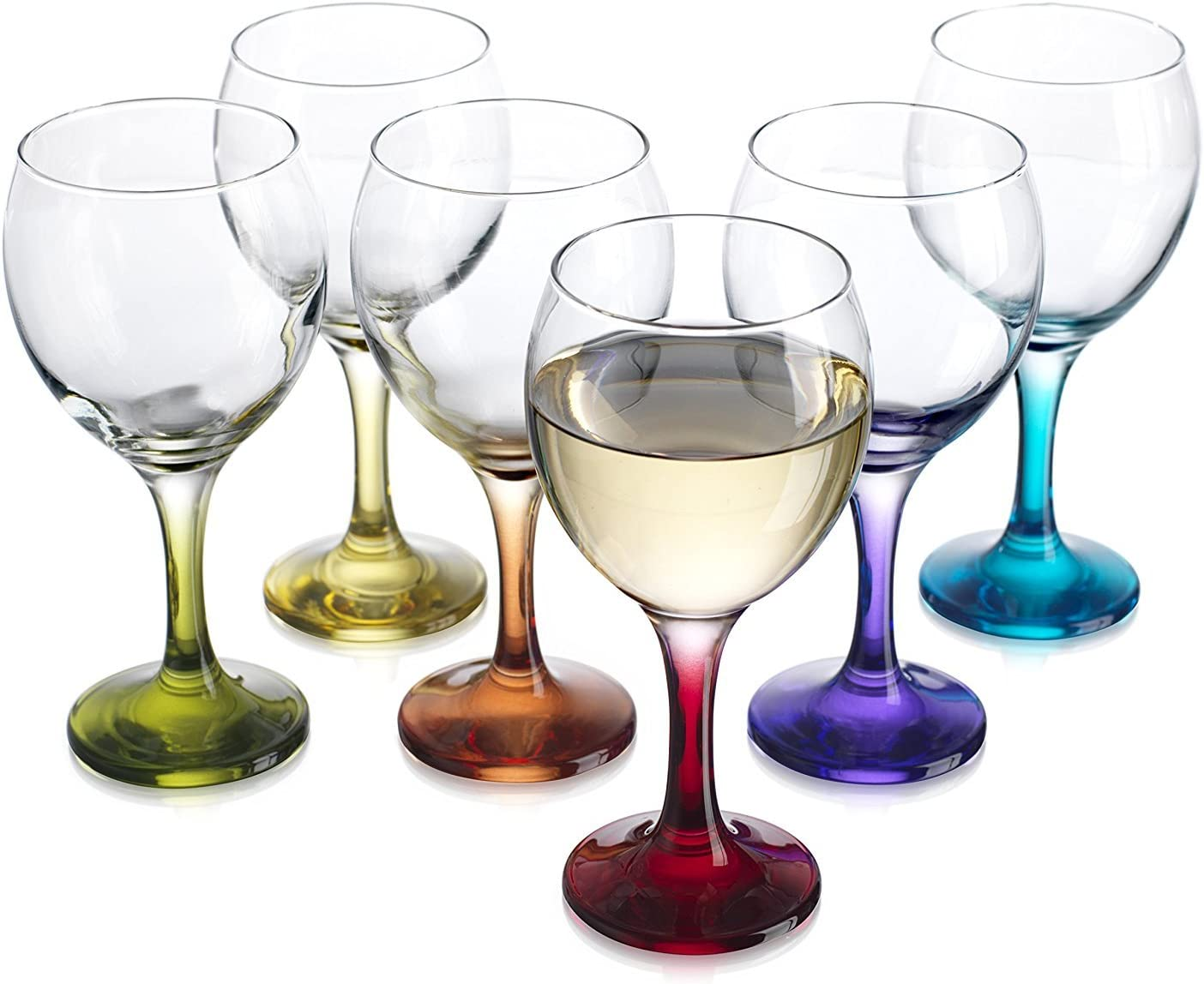 10 oz clear glass Set of 6 Wine Glasses FREE SHIPPING