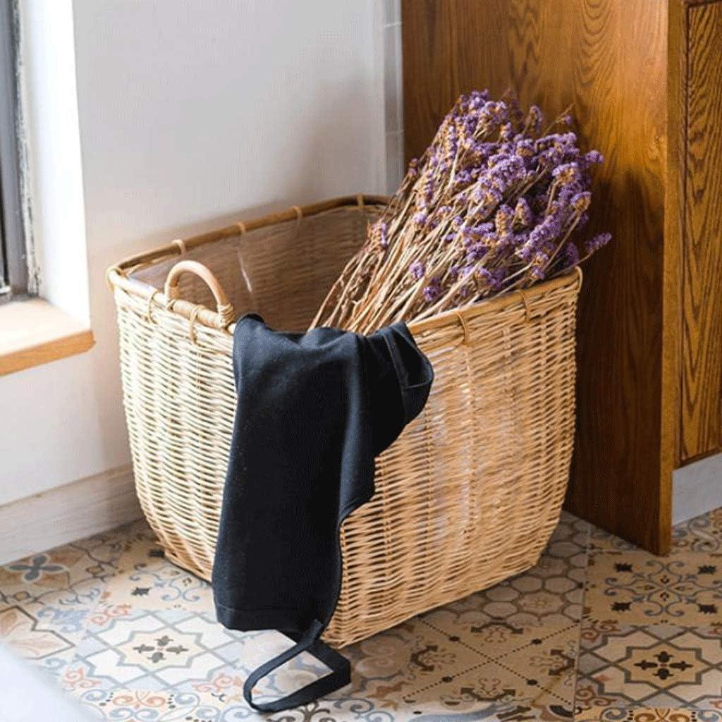 HXF- Panier à Linge Panier ménage vêtements Sale Panier de Rangement Salle de Bains Support de Salle de Bains Panier à Linge Seau de Rangement Durable (Color : A) A