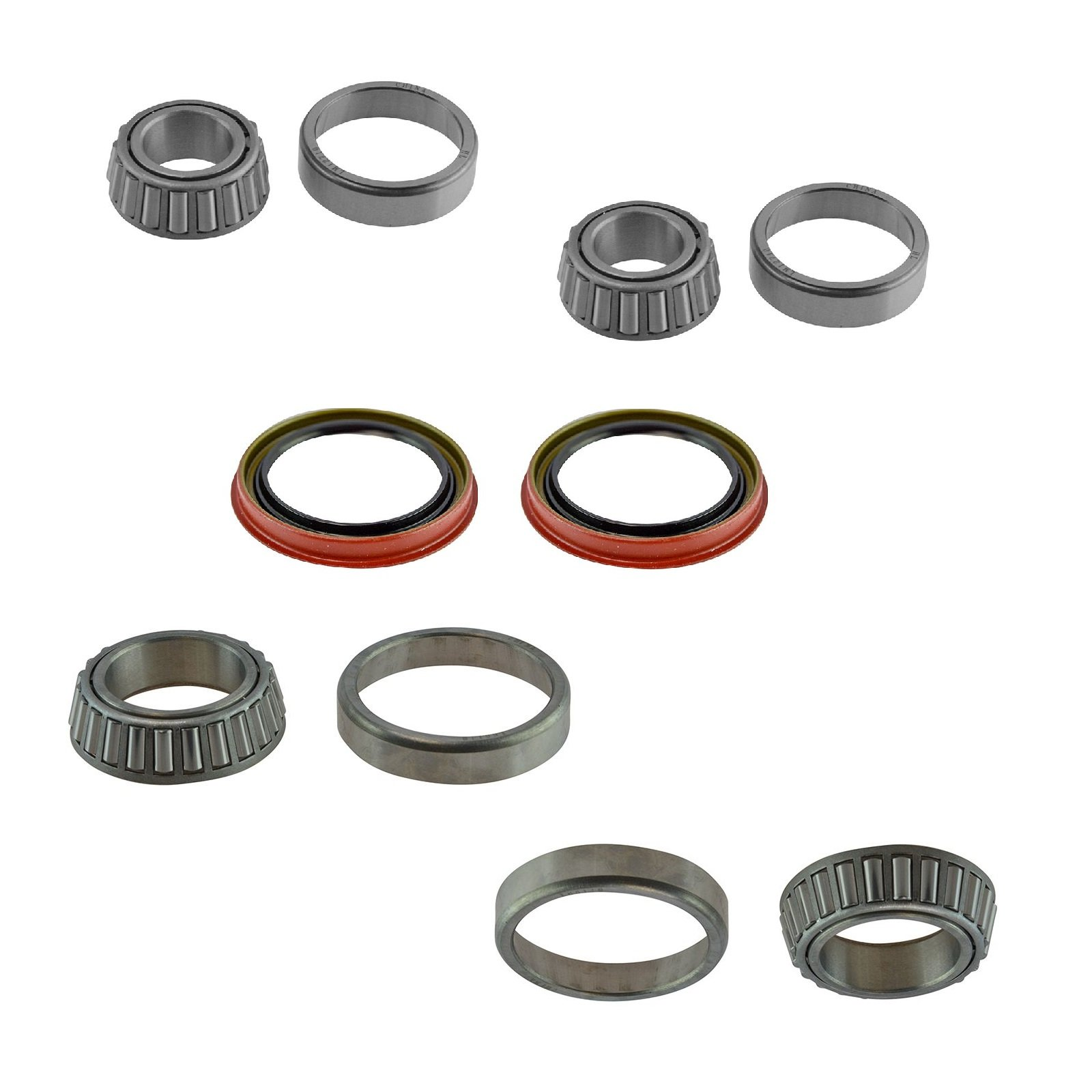 Front Driver & Passenger Side Inner Outer Wheel Bearing & Seal Kit for Ford F150 by TRQ