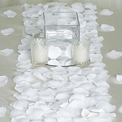 Amazon balsacircle 4000 white silk artificial rose petals balsacircle 4000 white silk artificial rose petals wedding ceremony flower scatter tables decorations bulk supplies wholesale mightylinksfo