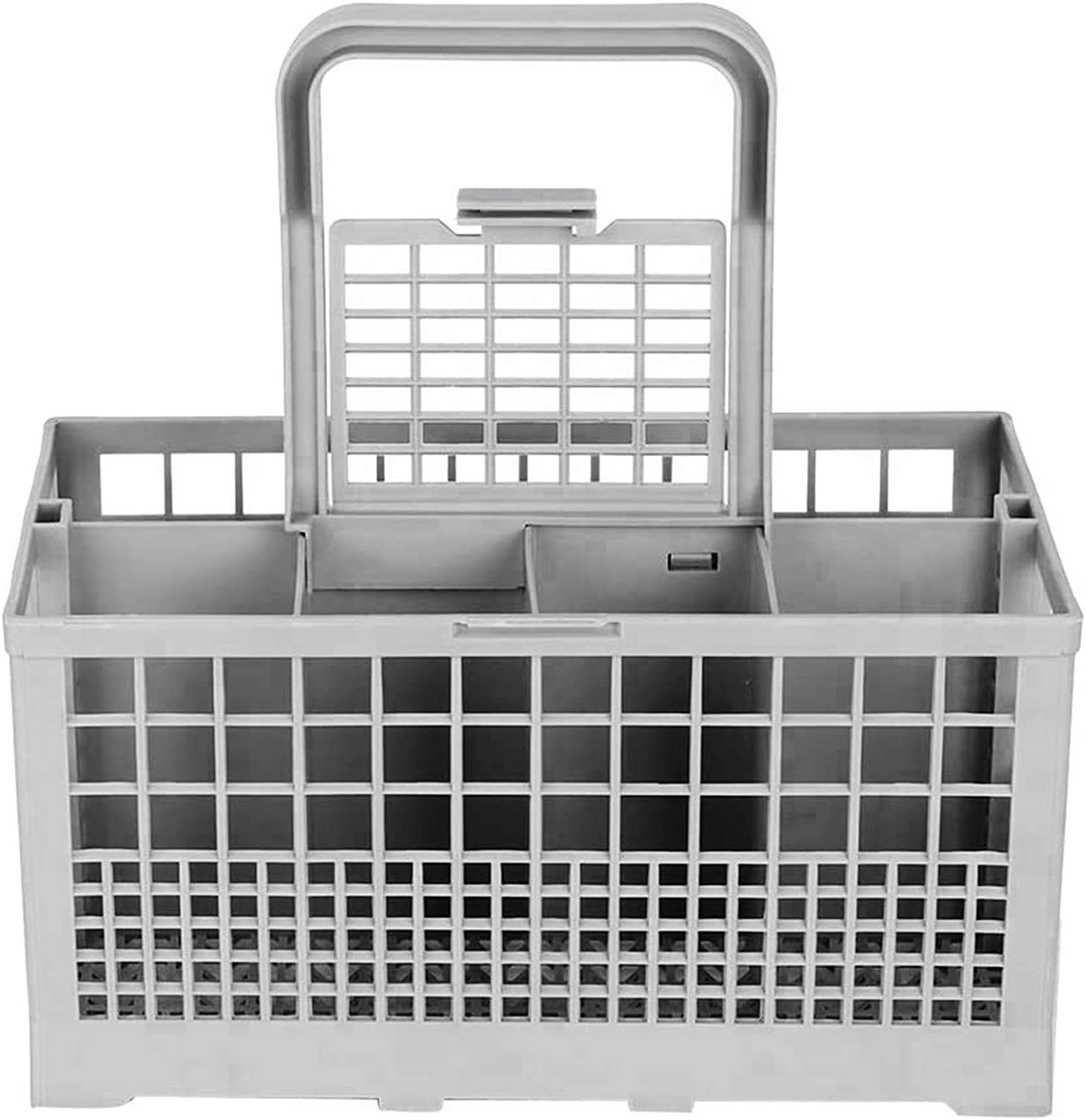 Universal Dishwasher Cutlery Basket, Replacement Dishwasher Basket Compatible with Kenmore, Whirlpool, Bosch, Maytag, KitchenAid, Maytag, Samsung, GE and more (Grey, 9.5