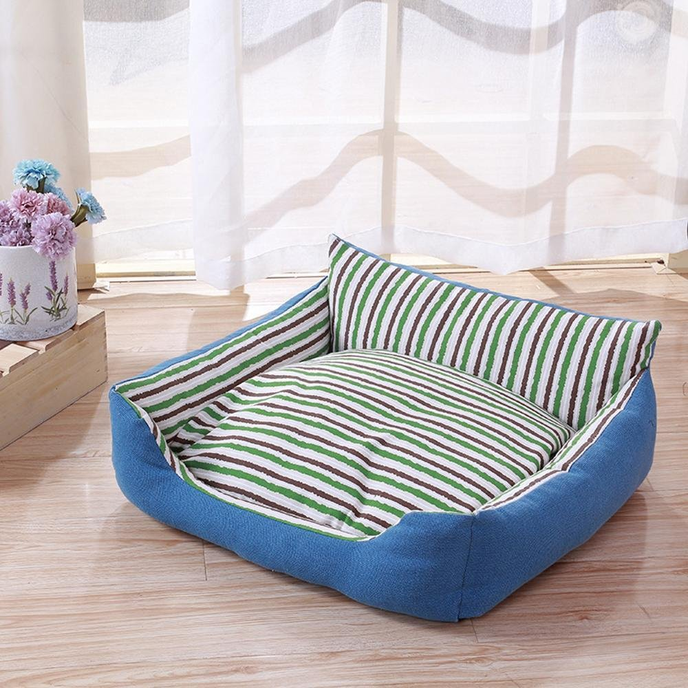 454018cm Dixinla Pet Bed Comfortable pet seat Cushion Removable and Washable Striped Kennel