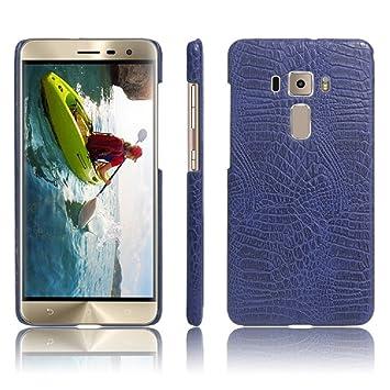Apanphy ASUS Zenfone 3 Funda, Textura de cuero PU de alta calidad Ultra Slim sensacion comoda para Carcasa ASUS Zenfone 3 ZE520KL (5.2inch), Azul