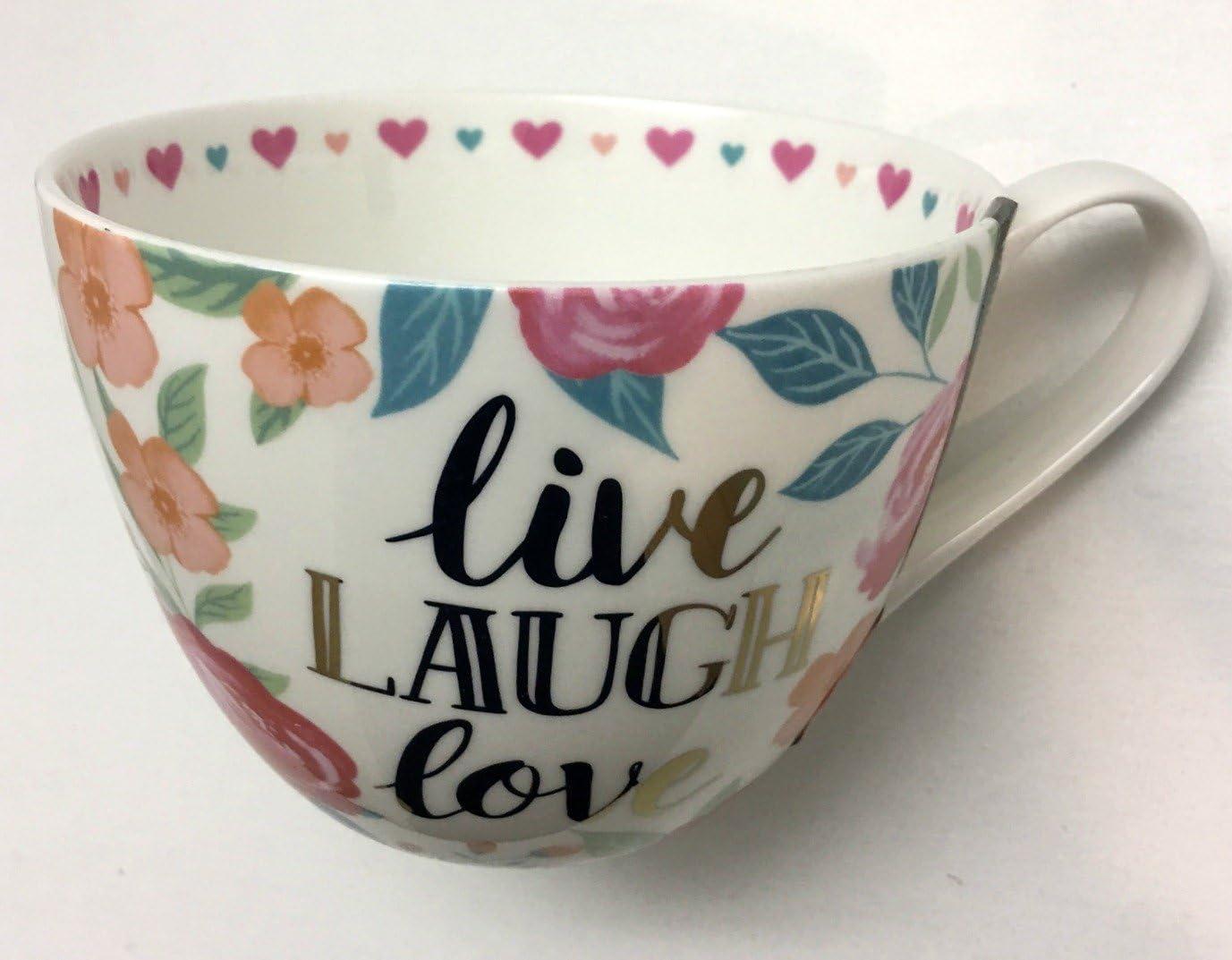 Live Laugh Love Novelty Gift Fine Bone China Mug