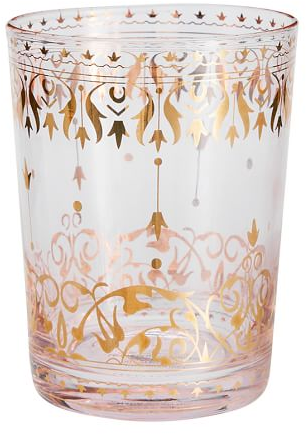 """4"""" Moroccan Double Old-Fashioned, Set Of 4 - Blush   Pottery Barn"""
