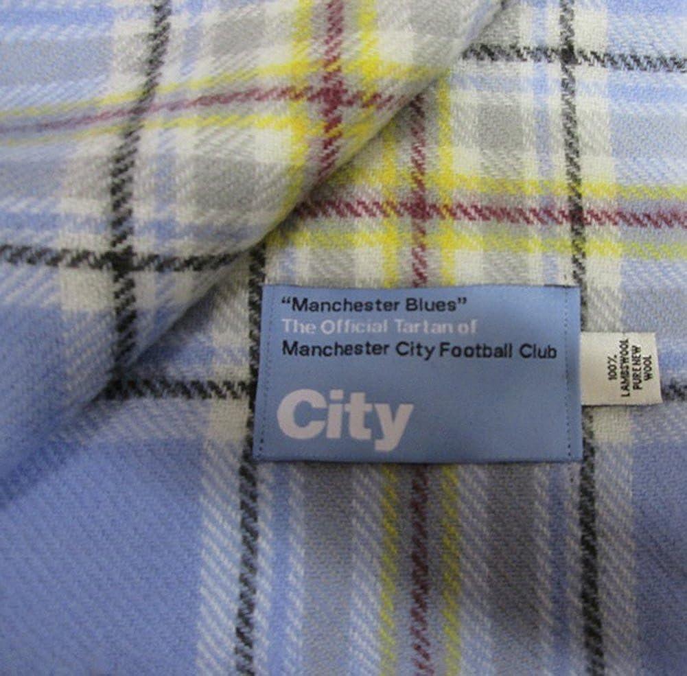 MCFC Tartan Scarf Manchester Blues The Original Official Tartan of Manchester City Football Club