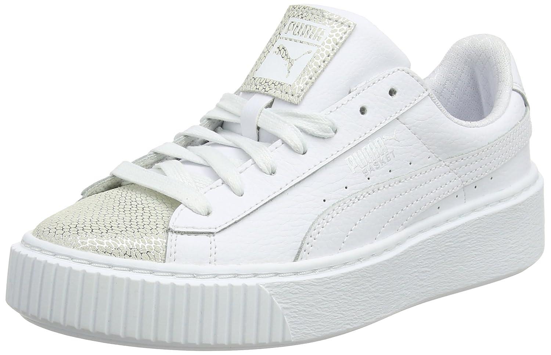 puma basket platform euphoria bianco