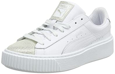 fbc135caf5d41 Puma Unisex Kids' Basket Platform Glitz Jr Trainers: Amazon.co.uk ...