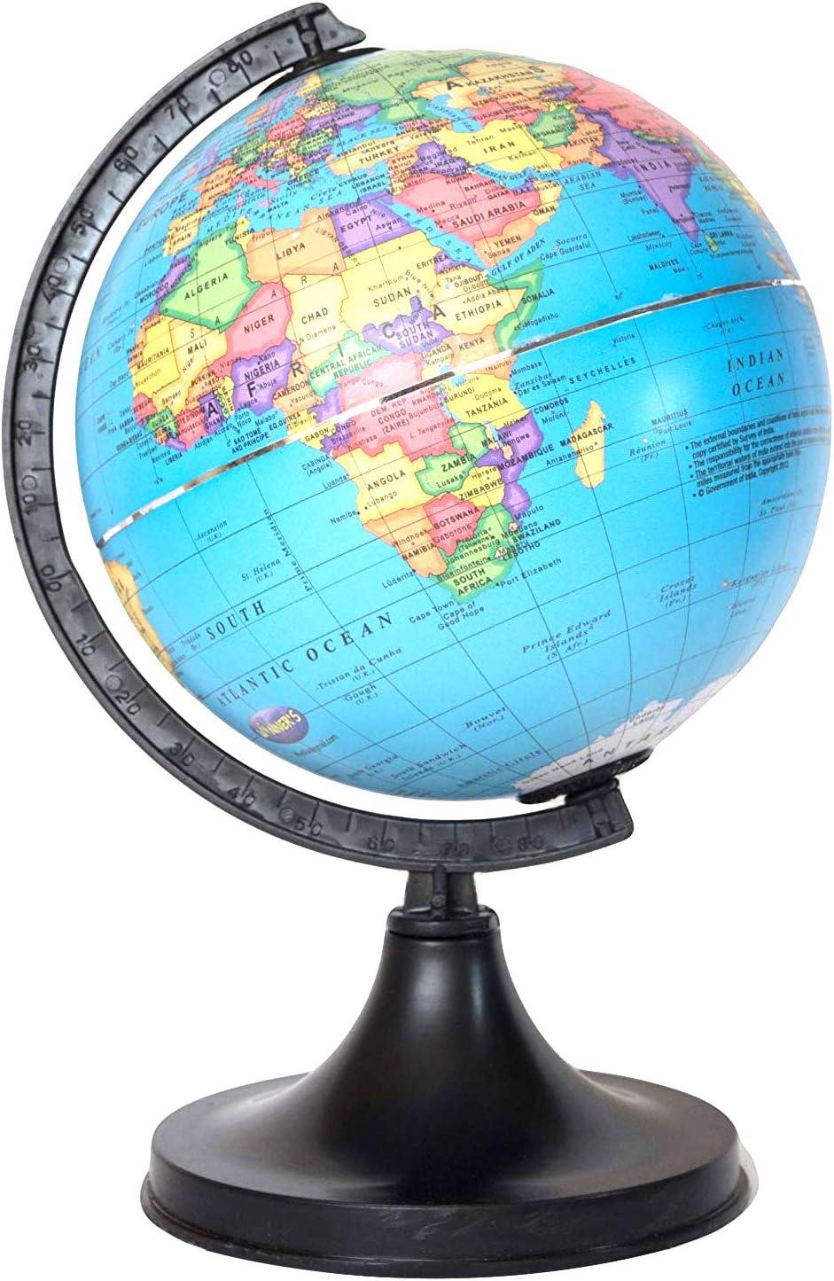 Roatating Globe For Kids//Office//School 5 inch SS Ecom Educational World Globe Educational Toy Desktop Decor