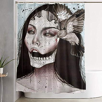 acheter rideau de douche tete de mort online 3
