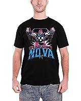 Officially Licensed Merchandise Marvel Comics The Man Called Nova T-Shirt (Black)