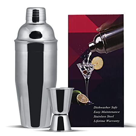 Compra GWHOLE Coctelera Acero Inoxidable 750 ML Cocktail Shaker ...
