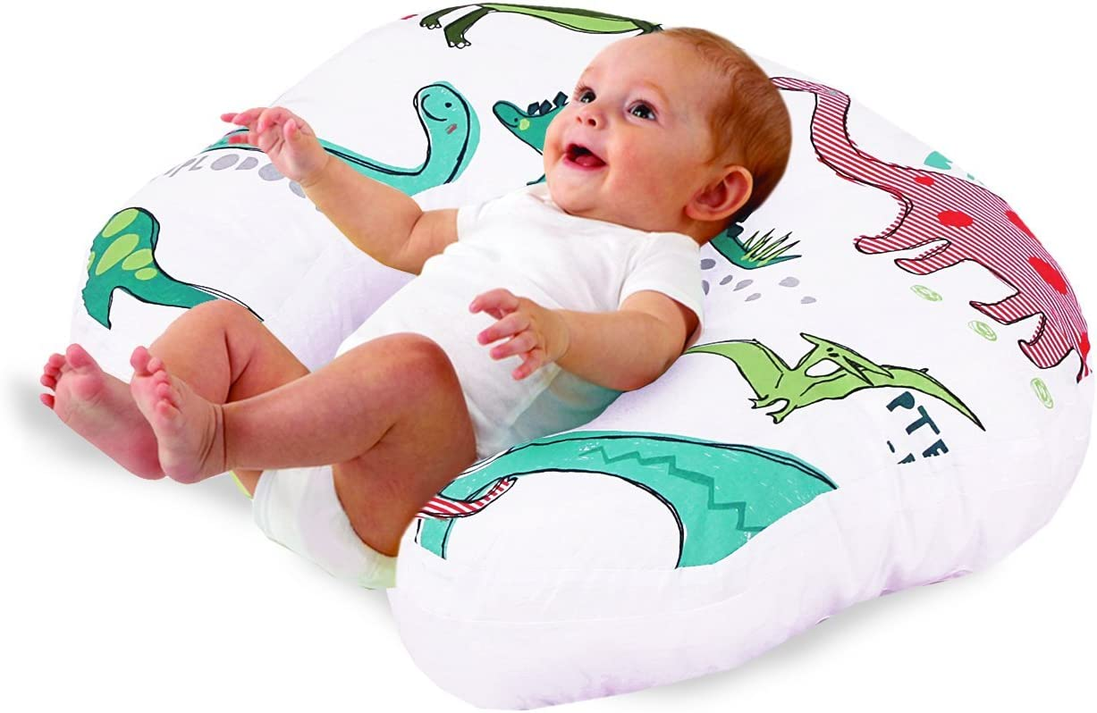Love2Sleep Baby Feeding//Nursing Pillow HOLLOWFIBRE Filled for Complete Support Dinosaurs